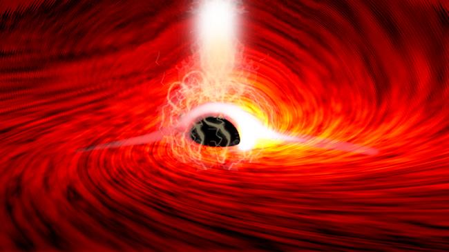 Shkencëtarët shohin për herë të parë dritë nga ana tjetër e një vrime të zezë