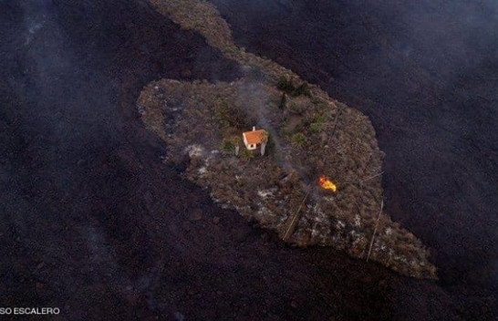 'Shtëpia e mrekullisë' i shpëton lavës së vullkanit në Spanjë